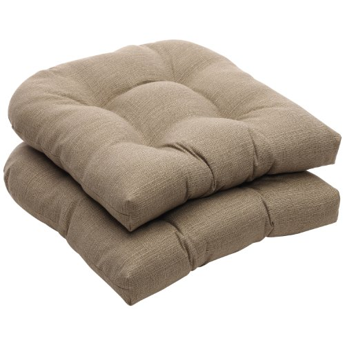Pillow Perfect Indoor Outdoor Taupe Textured Solid Wicker
