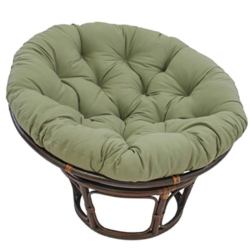 Blazing Needles Solid Twill Papasan Chair Cushion 52 X 6