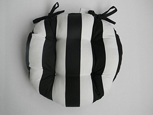 Indoor Outdoor Round Tufted Bistro Cushion With Ties