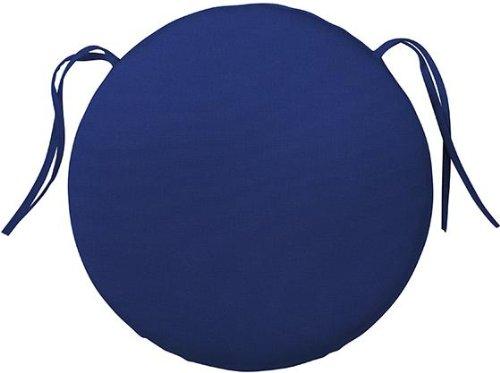 Bullnose Round Outdoor Chair Cushion, 1.5u2033Hx15u2033DIAMETER, BLUE SUNBRELLA