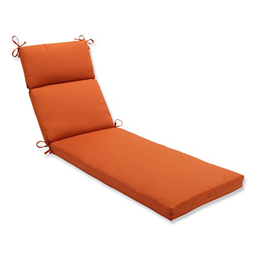 Pillow perfect indoor outdoor cinnabar chaise lounge for Burnt orange chaise lounge