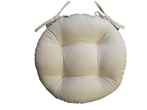 Indoor / Outdoor Round Tufted Bistro Cushion with Ties – Solid ...