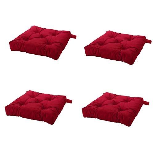 Ikea Malinda Chair Cushion Chair Pad Red Set Of 4