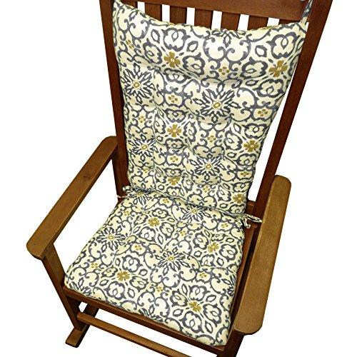 Rocking Chair Cushions Souvenir Scroll Fog Grey Extra