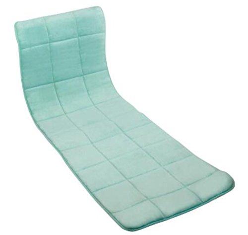 Luxurious Memory Foam Cushioned Lounge Chair Cover Aqua