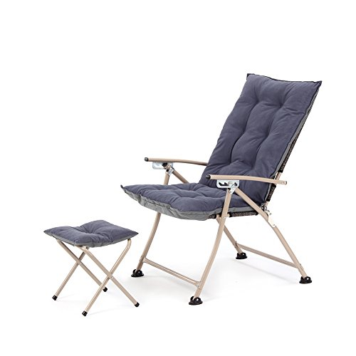 Campland Deluxe Padded Reclining Chair With Footrest